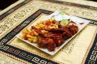 Ali Baba Gyros | BBQ Csirkeszárny tál | Menu24.hu