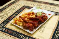 Ali Baba Gyros | BBQ Csirkeszárny tál (halal) | Menu24.hu