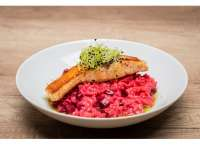 Upps | SALMON STEAK WITH BEETROOT RISOTTO | Menu24.hu