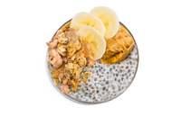 Salad Box Debrecen | CHIA PUDDING WITH PEANUT BUTTER, BANANA AND GRANOLA CRUNCH | Menu24.hu
