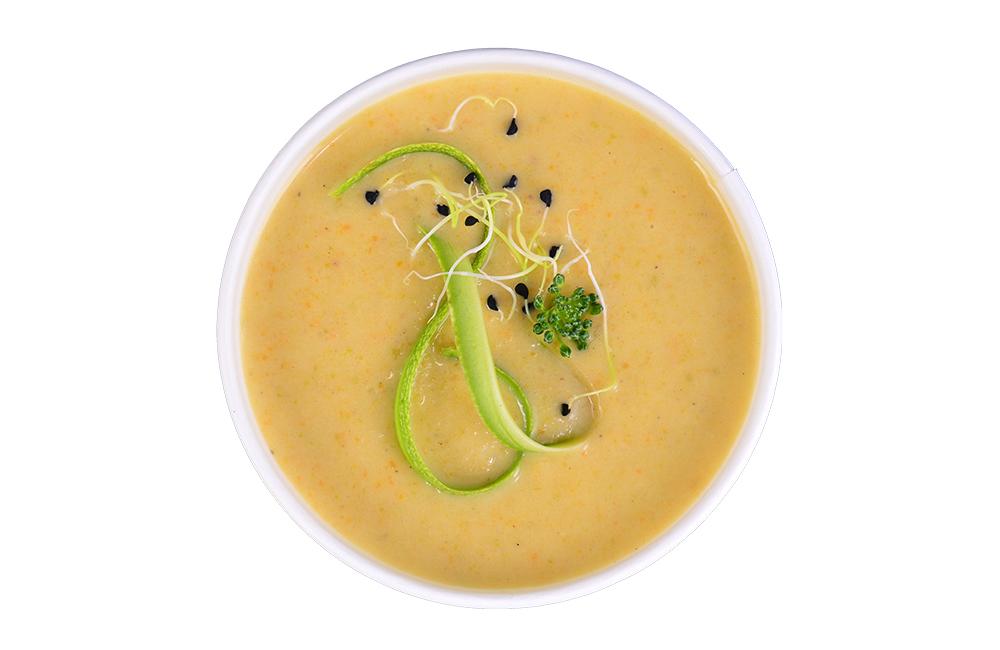 Salad Box Debrecen | Zucchini cream soup | Menu24.hu