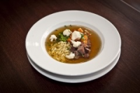 Leroy Cafe | Beef broth with garden vegetables and home made pasta | Menu24.hu