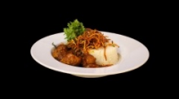 Leroy Cafe | Vindaloo chicken with jasmine rice and crispy dried vegetables | Menu24.hu