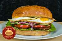 Árpád Burger | Giant Fried Eggs Burger | Menu24.hu