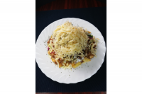 Jorgos Gyros | Small shawarma plate with cheese (60dkg) | Menu24.hu