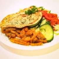 Fit House | Grilled salmon steak with salad | Menu24.hu